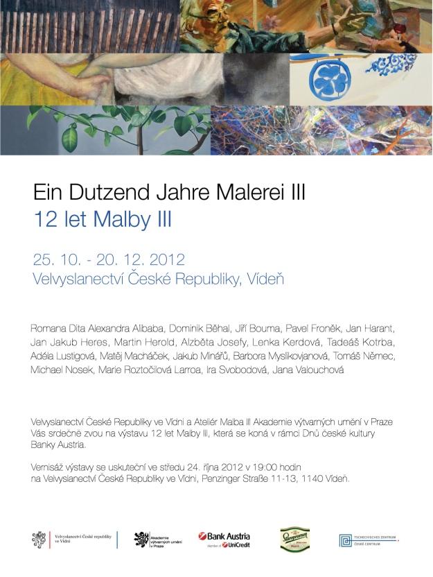 Exhibition XII years of painting studio III. Prof. Rittstein, Czech embassy in Vienna, AU