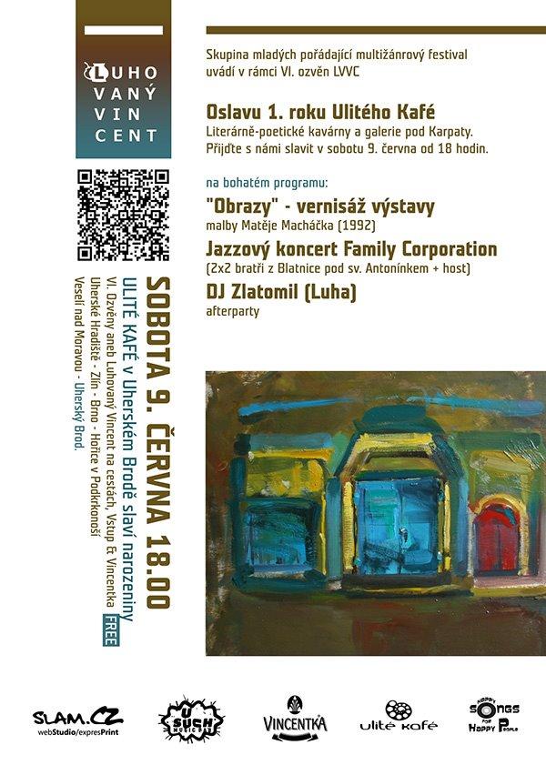 Exhibition of paintings – Coffe Ulité Kafé, Uherský Brod, CZ-
