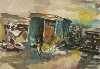 Old truck II., Kněždub, CZ