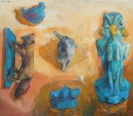 Mezopotamian goat, oil on canvas, 170x140