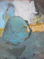 Blue Bag, oil on wood, 30x20
