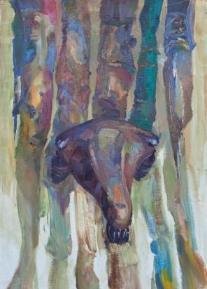 Saddle, oil on canvas, 70x40