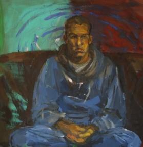 Ivan, oil on canvas, 90x90