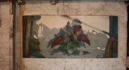 Vase, oil on canvas, 130x60