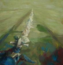 Flight, oil on canvas, 90x90