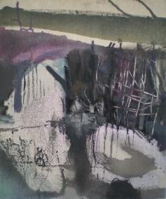 Shadow, oil od wood, 55x35