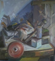 On the table, oil on wood, 60x48