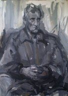 Grey portrait, acrylic on paper, 110x90