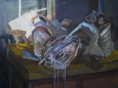 On the table, oil on canvas, 130x80
