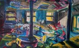 Untitled, acrylic on canvas, 80x49