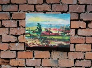 Village, oil on canvas, 20x30