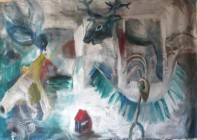 Around home, oil on canvas, 140x200