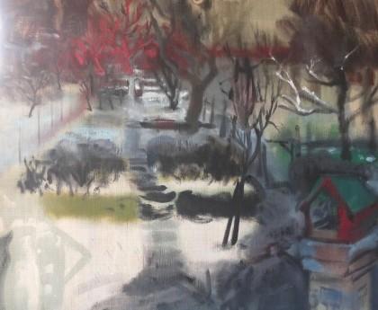 Winter garden II., oil on canvas, 90x115