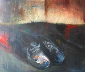 My shoes, oil on canvas, 50x60