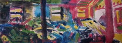 Untitled, acrylic on canvas, 130x50