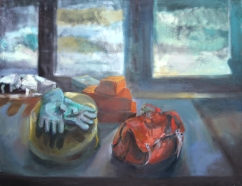 Still-life with gloves, 180x125