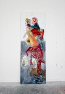 Went through the boundary, oil on canvas, 260x90
