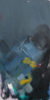 Father's gloves, oil on canvas, 50x25