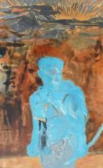 Treasure hunter II., ink, acrylic, paper on canvas, 140x85